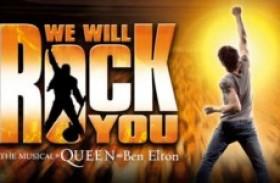 Pacote especial tem hospedagem de luxo e ingressos para We Will Rock You