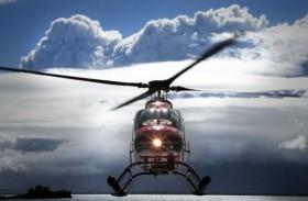 Pouse de helicóptero na Cordilheira do Andes, no Ushuaia