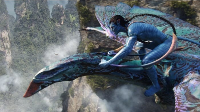 Assim como o personagem do filme Avatar, você voa em um banshee, na Disney