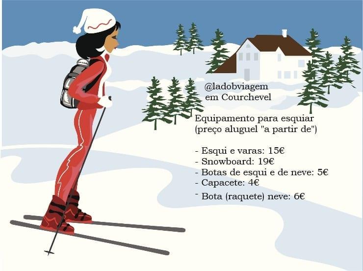 aluguel de equipamento esqui