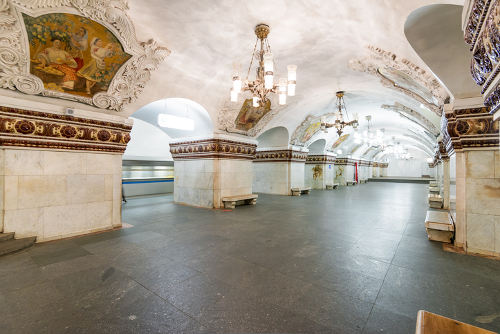Metro station Kievskaya is a beautiful monument of the Soviet era.