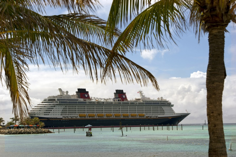 The Disney Fantasy docks at Castaway Cay, Disney's private island in the tropical waters of the Bahamas, reserved exclusively for Disney Cruise Line guests. In a setting of crystal-clear turquoise waters, powdery white-sand beaches and lush landscapes, the 1,000-acre island offers one-of-a-kind areas and activities for every member of the family.