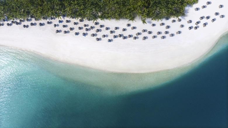 OneAndOnly_LeSaintGeran_PoolsAndBeaches_Beach_AerialView_HR