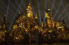 Show de projeções no castelo de Hogwarts: entre na saga de Harry Potter em Orlando